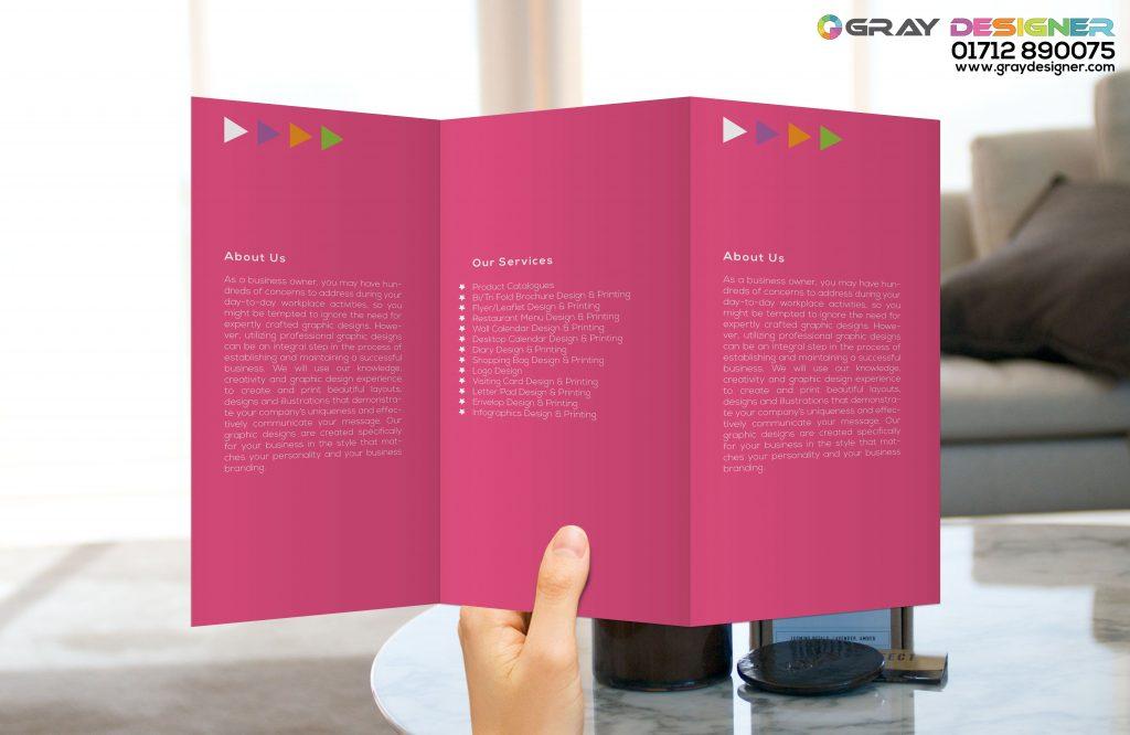 tri fold brochure designing printing service in bangladesh